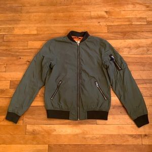 4/$40 - H&M Boys Nylon Green Bomber Size 11-12 yrs